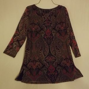 INC Concepts Tunic Paisley/XL